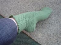 Green Cable Sock